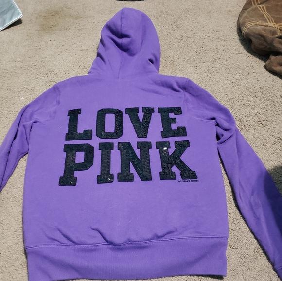PINK Victoria's Secret Jackets & Blazers - Limited edition pink faux fur zip up hoodie